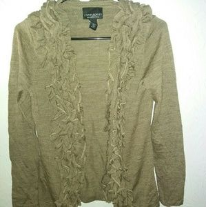 New Cynthia Rowley Cardigan S Brown Sweater